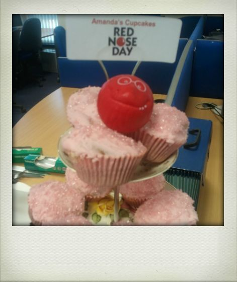 Cupcakes for Red Nose Day
